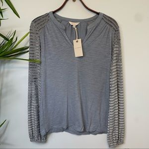 Lucky | Textured Long Sleeve Top XS TP NWT